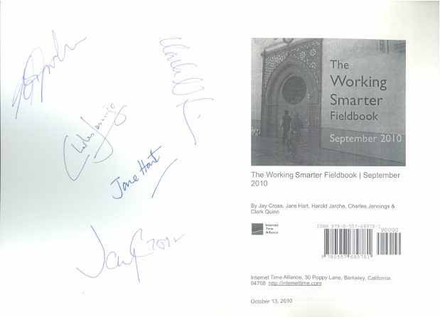My copy of the working smarter fieldbook
