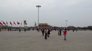 Tiananmen Square and the access gate to the Forbidden city